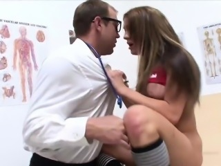 WANKZ- Perfect Amy Brooks Slammed By Two Cocks