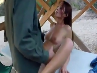Sexy office babe big tits Brunette gets pulled over for a cavity searc