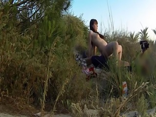 Teen assfucked by cop on the beach
