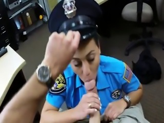 Latin police officer banged by pawn man at the pawnshop
