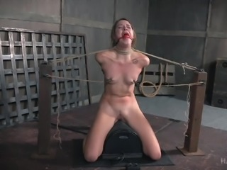 Hot brunette babe Zoey Laine, gets a taste of slavery, when she is made to...