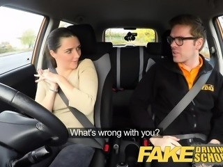 Fake Driving School Worst Driver Ever Get Fucked in the Car