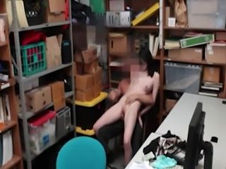Small tits babe Ivy Aura gets her pussy nailed in LP office