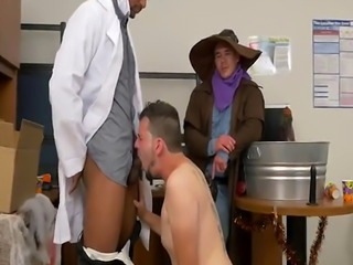 Office costume party gone wild with horny gays
