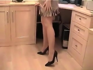 Amateur blonde schoolgirl fingers her hungry clam