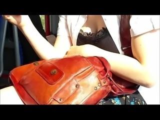 im punktierten Kleid - GetMyCam.com
