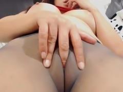 Pantyhose puffy pussy