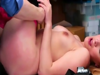 Small tits blond thief Alexa Raye fucked by nasty LP officer