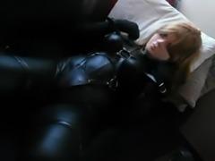 black leather kigurumi vibrating 2