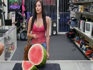 Desperate babe Alexis Deen gets fucked in the pawnshops office