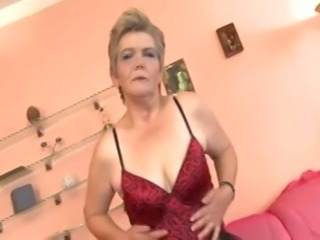 Blonde Mature crazy for young cock