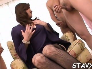 Japanese in nylons strokes her moist wet crack in a car