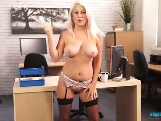 Lu Elissa is one naughty secretary and she is also a nasty exhibitionist