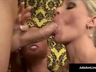 Mommy Milf Julia Ann & Jessica Jaymes Get A Hot Load of Cum!