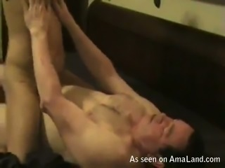 Skinny milf Asian girlfriend riding me on top on cam