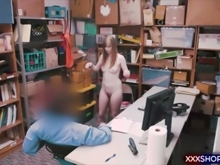 Blonde shoplifter caught and fucked hard in the office