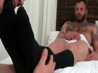 Male humiliation feet tickle naked gay Derek Parker's Socks and Fe