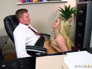 impressing his big tits boss