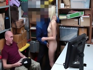 Pretty blonde shoplifter Madison Hart banged in LP officer