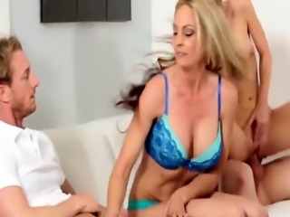 Family dinner quickly turns into hot couple swap orgy