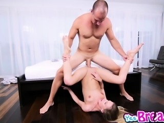 Sydney Nicoles sweet pussy railed on top by the fat rod