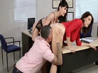 milfs with Huge tits at the Office