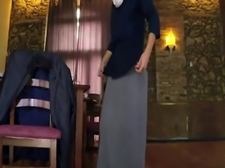 Arab whore and exploited first time Hungry Woman Gets Food and Fuck