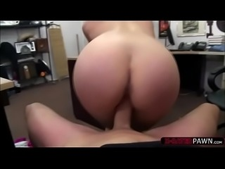 Voluptuous and blonde stripper sells her pole and rides Shawns cock