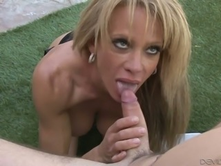 This MILF is really into fucking young men and she knows how to look good