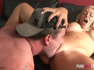 Victoria Summers is such a cockslut and she loves couch sex