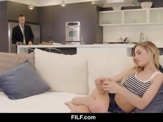 Teen slut craves her friend's cock