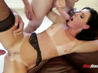 Sex-starved milf India Summer is fucked by three furious dudes