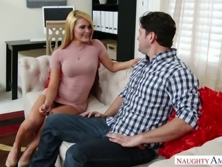Abby Cross wears the shortest dress she can find and she is ready to fuck
