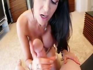 Busty milf titfucking and sucking hard dick
