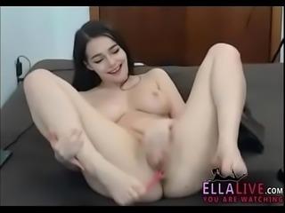 Beautiful brunette masturbation - EllaLive.com