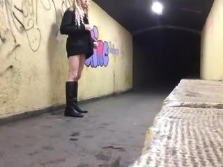 stripped naked in public crossdresser