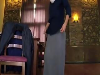 Dubai arab girls Hungry Woman Gets Food and Fuck