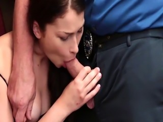 Jennifer Jacob ride on top of the LP Officers cock