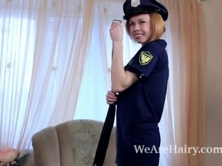 Liliya plays a masturbating police officer