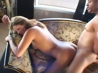 Fine and submissive young whore banged hard on the couch