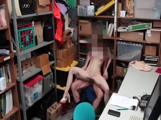 LP Officer screwing Alina West on top of his cock