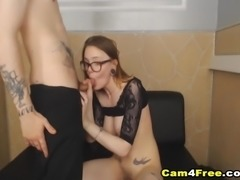 Amateur college couple gets wild and naughty as they fucked each other in...