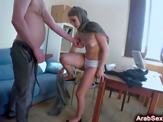 Sexy Arab babe pounded with fat cock