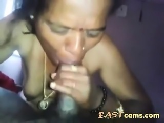 Mature wife from India blows a prick