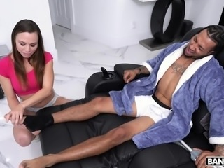 She was tired of small cocks, so that's why she stopped dating white guys and...