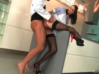Beautiful nurse is slut