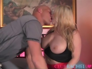 Rachel Love shaved pussy smashed after nice ass licking