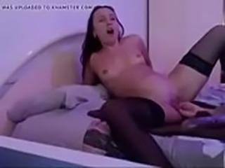 Big, natural tit girl on camshow, she goes live on livecams99.com