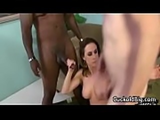 Cuckold Sessions - Hot Big Tit MILF Enjoy Big Black Cock WHile Hubby Watch 09