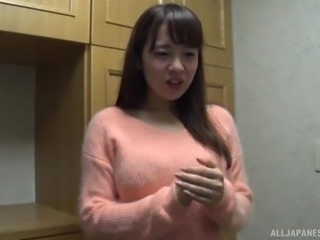 Japanese woman with natural breasts fucked hardcore